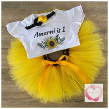 Load image into Gallery viewer, Sunflower personalised tutu set