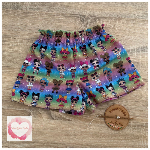 LOL doll paperbag shorts size 4 -ready to ship