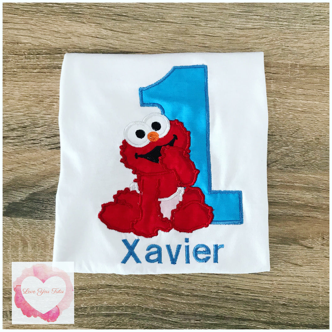 Embroidered Baby elmo design