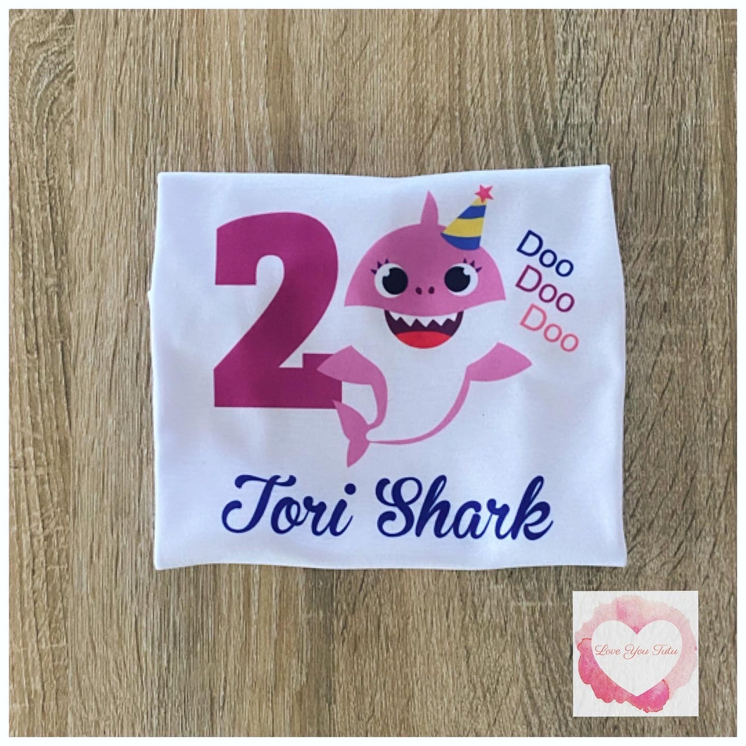 Baby shark pink printed design