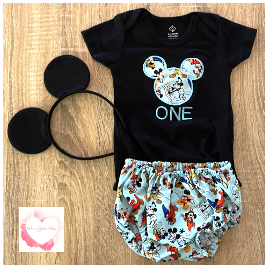 Mickey Mouse 1st birthday set size 1-ready to ship