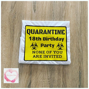 Adult men's Quarantined Birthday design