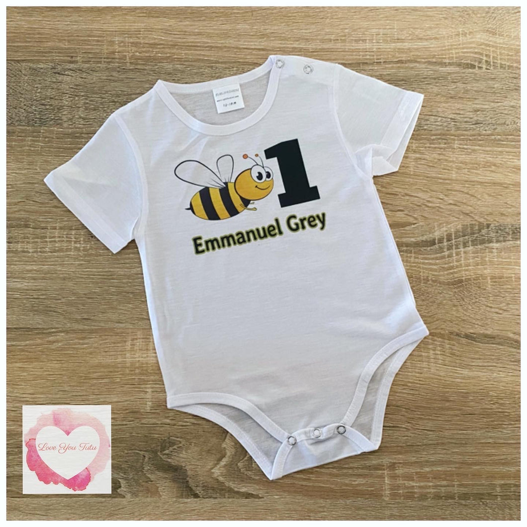 Bee printed design