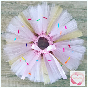 Donut sprinkles short Tutu skirt