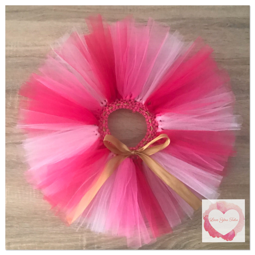 Multi pinks short Tutu skirt