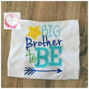 Embroidered Big brother to be design