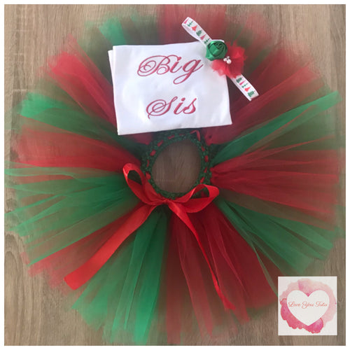 Big Sis Christmas tutu set