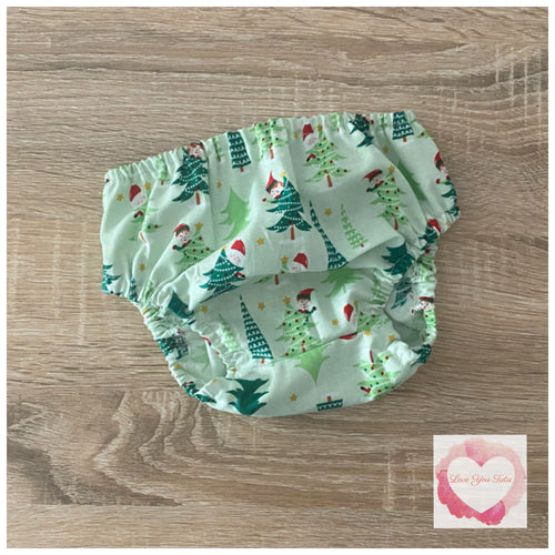 Christmas nappy cover size 00 -ready to ship