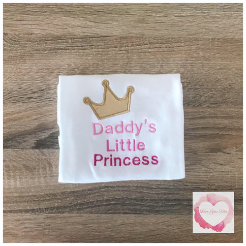 Embroidered Daddy's little Princess design
