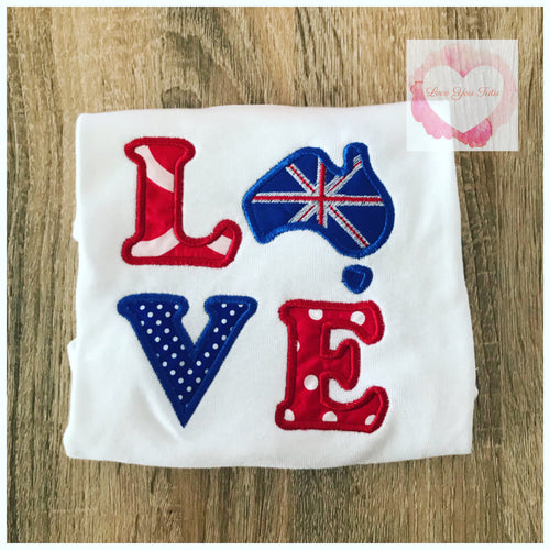 Embroidered Australia Love design