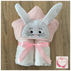 Easter bunny hooded towel