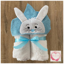 Load image into Gallery viewer, Easter bunny hooded towel