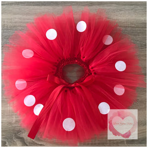 "Minnie Mouse ""Red"" inspired short Tutu skirt"