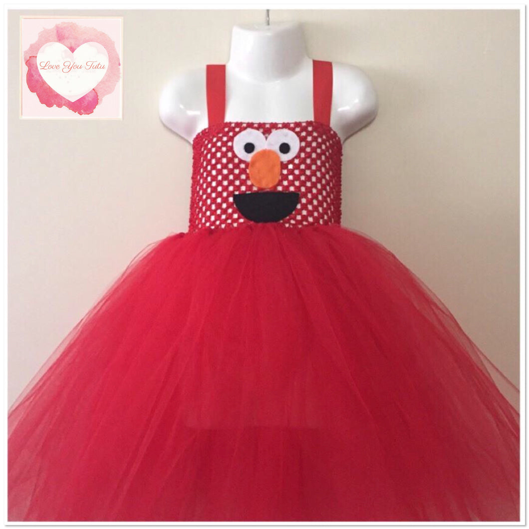 Elmo inspired Tutu dress