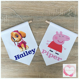 Personalised pendant wall flag