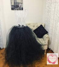 Load image into Gallery viewer, Full length black adult/maternity Tutu skirt