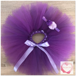 Purple short Tutu skirt