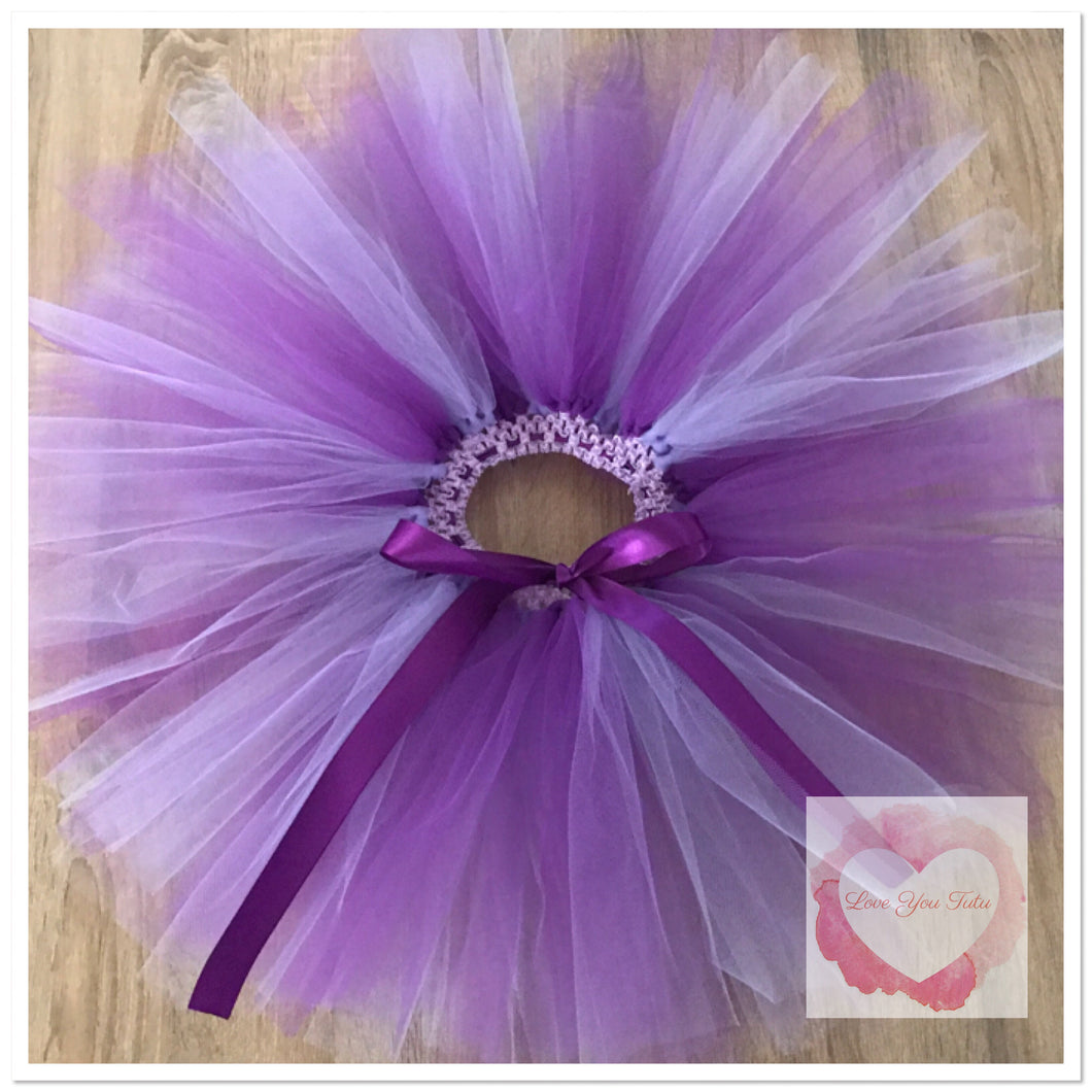 Lavender & Purple short Tutu skirt