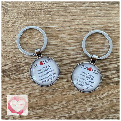 Teachers thank you keyring