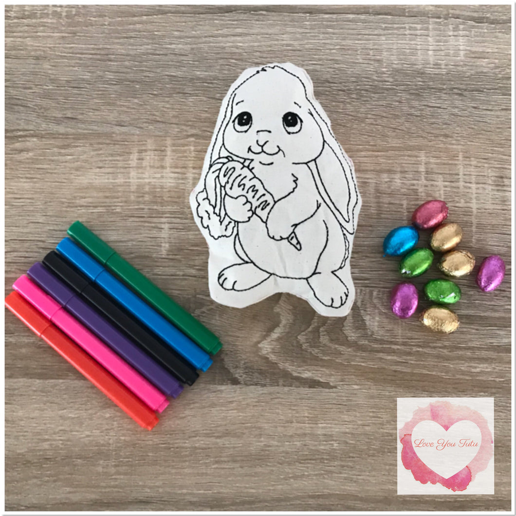 Colour it Easter stuffie
