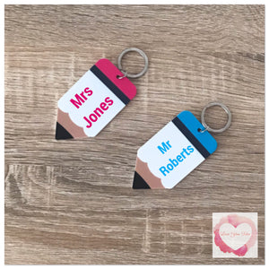 Personalised Pencil keyring