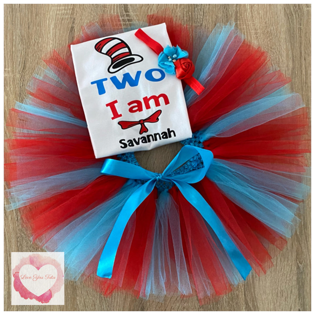 Cat in the hat tutu set
