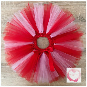 Pink and red Valentine's Day short Tutu skirt