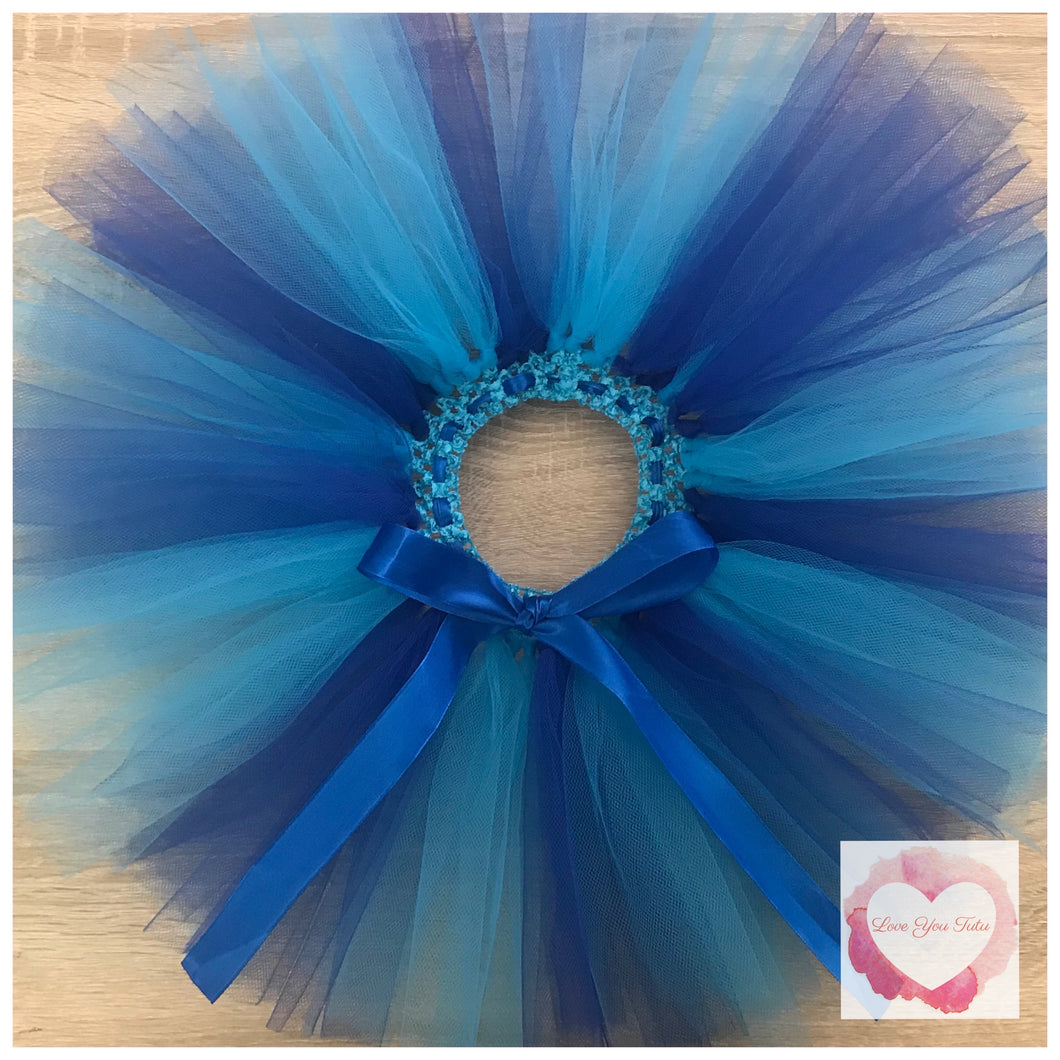 Royal blue & turquoise short Tutu skirt