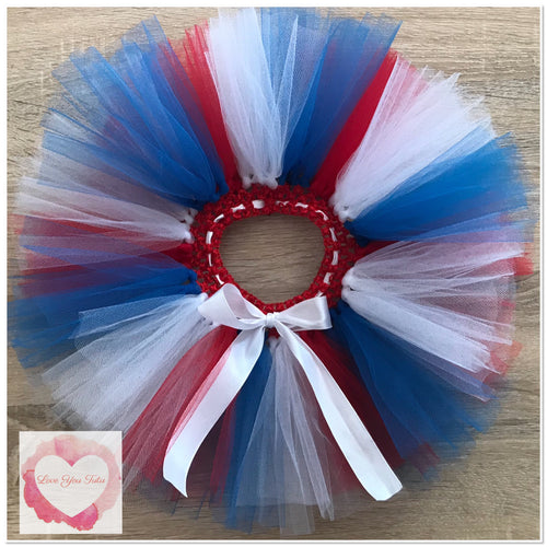 Red white & blue short tutu skirt