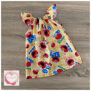 Elmo flutter sleeve dress size 2- ready to ship
