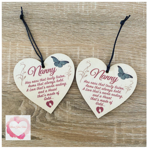 Nanny heart ornament decoration