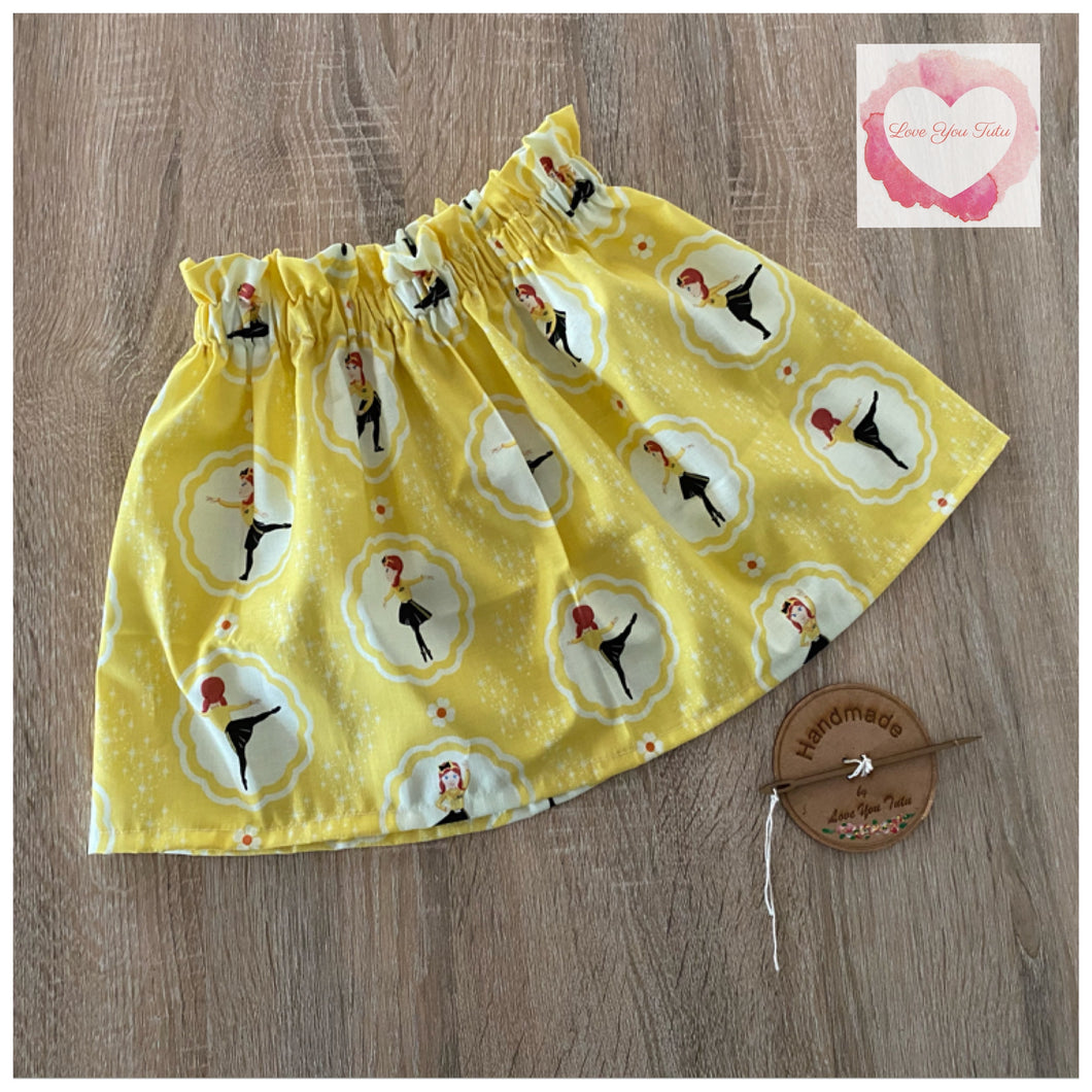 Yellow ballerina paperbag skirt- size 3-4 years -ready to ship