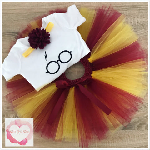 Embroidered Harry Potter tutu set
