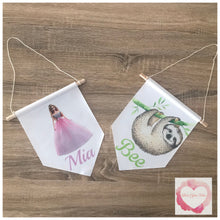 Load image into Gallery viewer, Personalised pendant wall flag