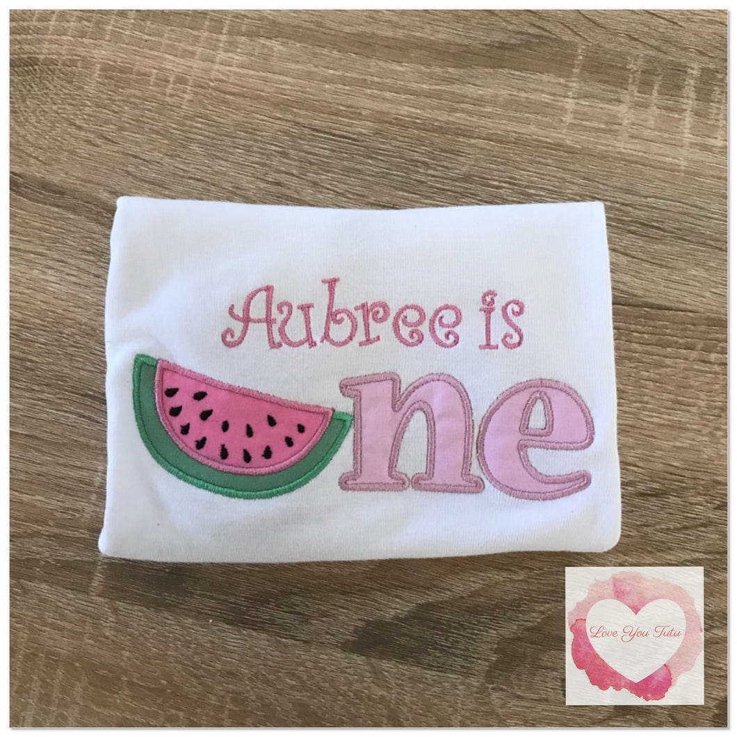 Embroidered Watermelon one design