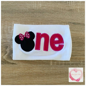 Embroidered Minnie Mouse one design