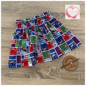 Pj Masks paperbag skirt- size 3-4 years -ready to ship