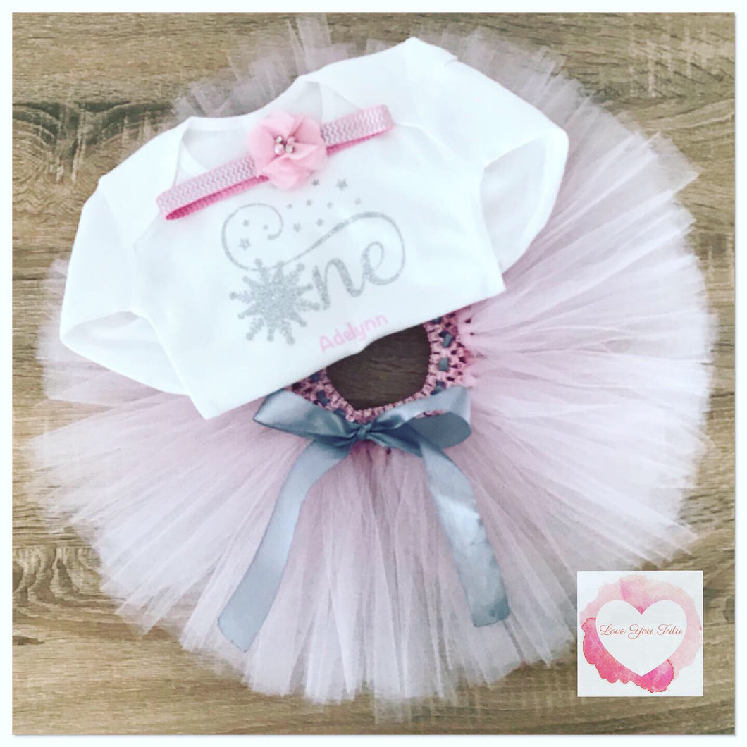 Snowflake one tutu set