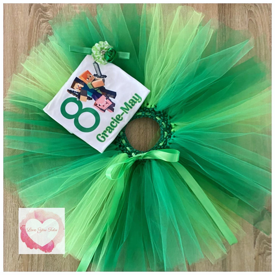 Minecraft personalised tutu set