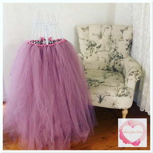 Full length mauve adult/maternity Tutu skirt