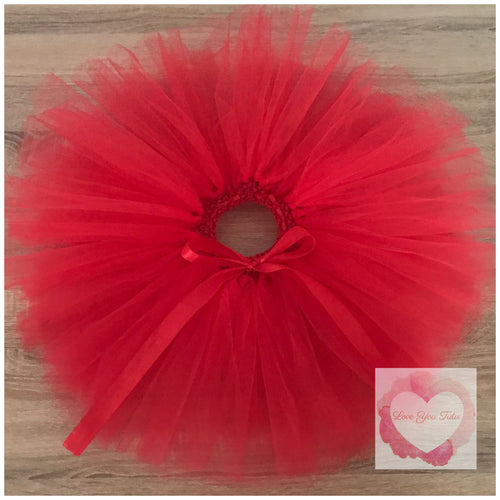 Red Short Tutu Skirt