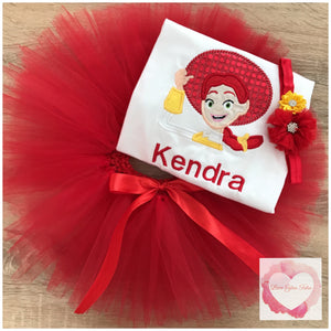 Embroidered Jessie tutu set