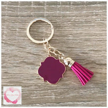 Load image into Gallery viewer, Personalised tassel keyring various colours