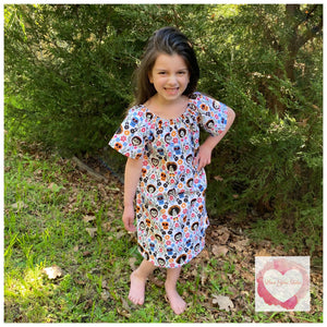 Rainbow Peasant dress size 3- ready to ship