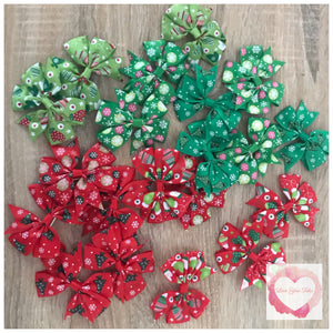 Christmas bows set of 2