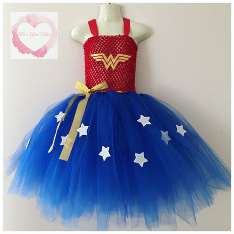Wonder Woman  inspired Tutu dress