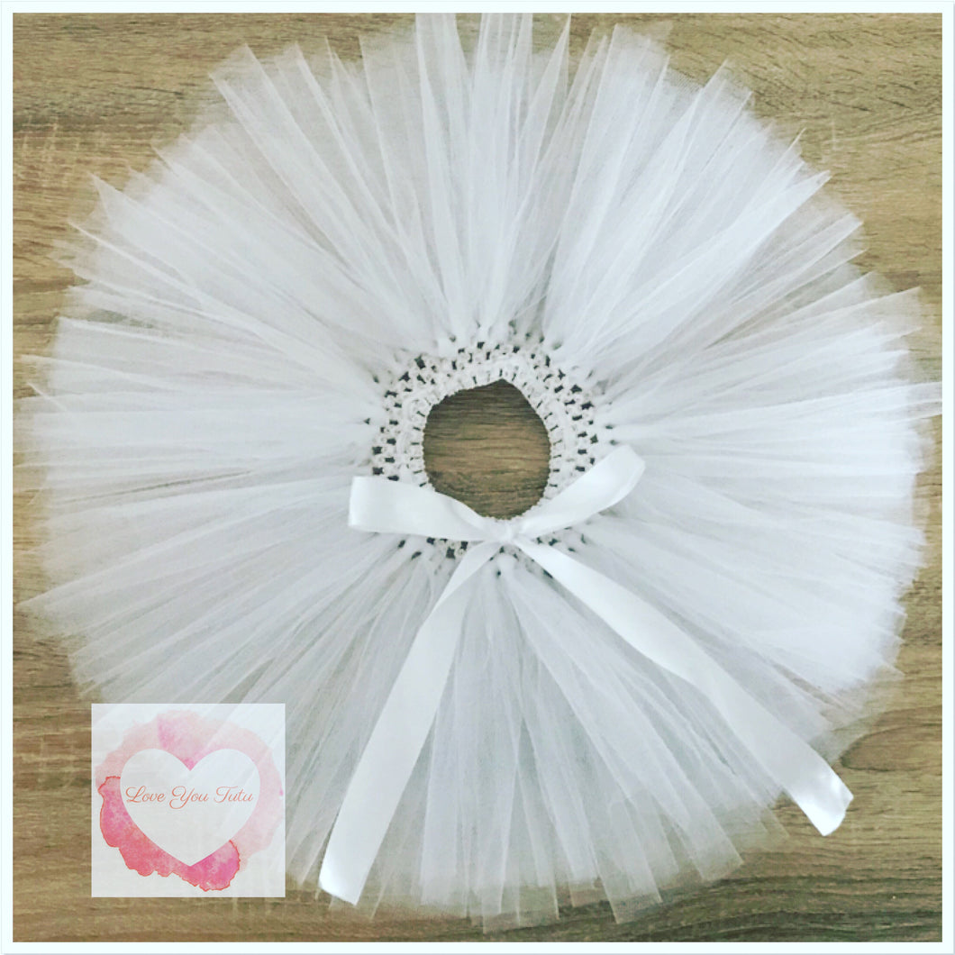White Short Tutu Skirt