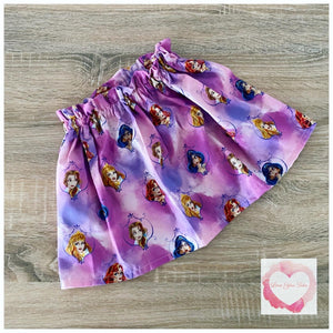 Disney Princess paperbag skirt- size 5-6 years -ready to ship
