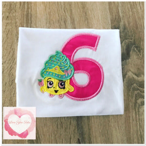 Embroidered shopkins (Queen cupcake) design