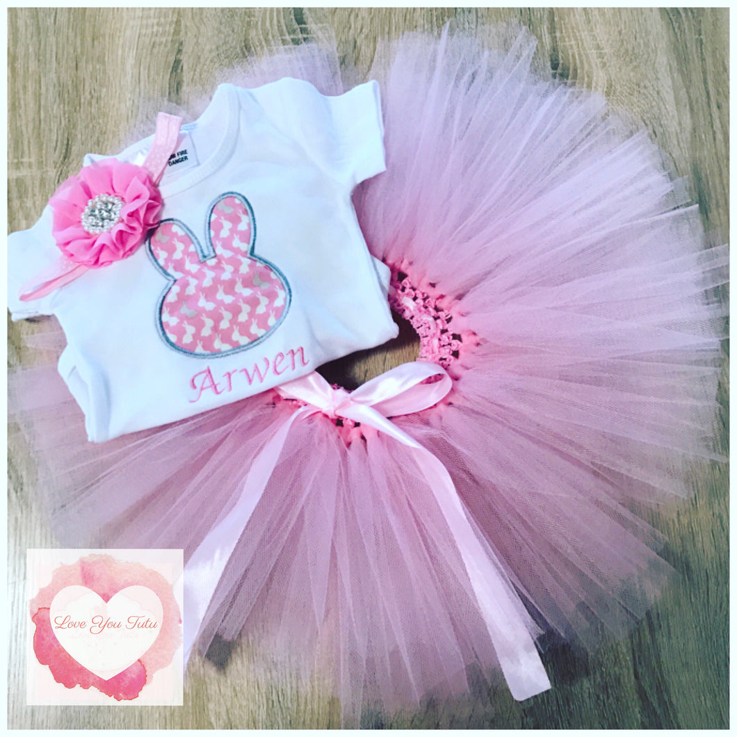 Embroidered Easter tutu set
